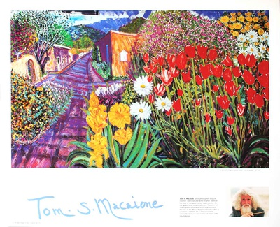 Spring Morning on canyon rd. Posters by Thomas Macaione