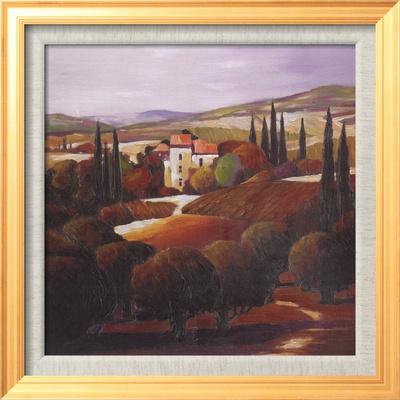 Villa in Tuscany Çerçeveli Dokuma Sanat