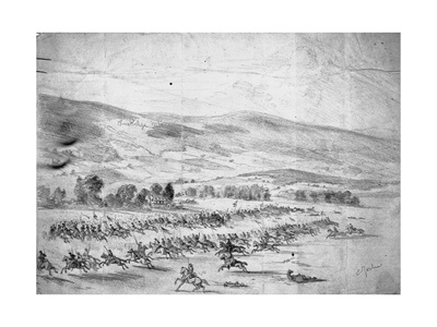 Charge of Union Cavalry Giclee Print by Edwin Forbes