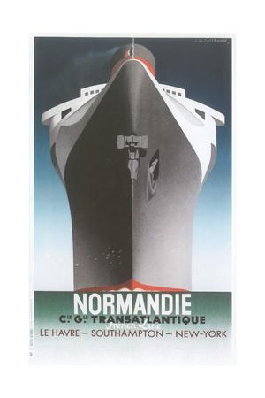 Normandie Ocean Liner Giclee Print
