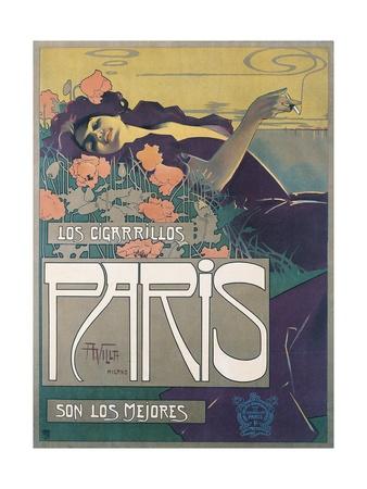 Cigarrillos Paris Son Los Mejores (Paris Cigarillos are the Best!) Giclee Print by Aleardo Villa
