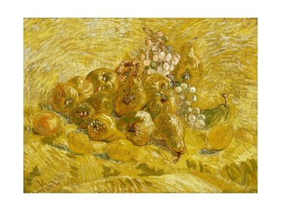 Quinces, Lemons, Pears and Grapes Giclee Print by Vincent van Gogh