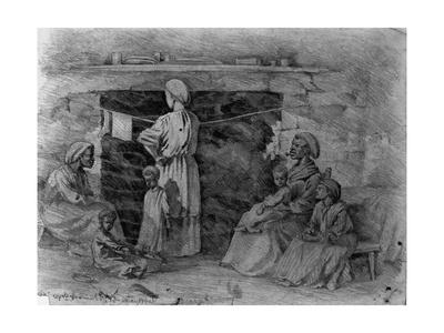 Interior of Negro Cabin, Spotsylvania Court House, Virginia Giclee Print by Edwin Forbes