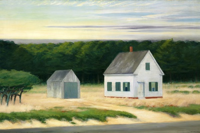 October on Cape Cod Giclee Print by Edward Hopper