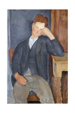The Young Apprentice Stampa giclée di Amedeo Modigliani