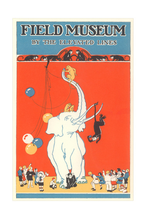 Poster for Field Museum with Circus Elephant Lámina giclée