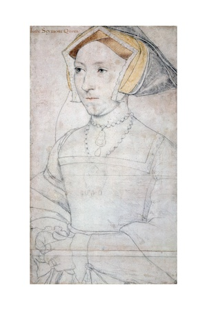 Portrait of Queen Jane Seymour Giclee Print by Hans Holbein the Younger