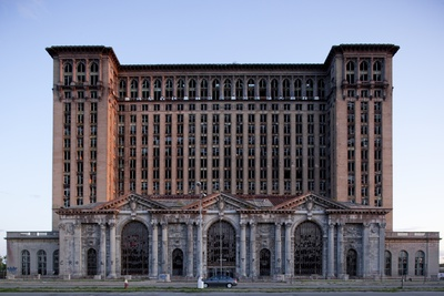 Abandoned Michigan Central Station Photographic Print by Paul Souders