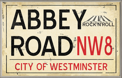 Abbey Road NW8 Railroad Wall Plaque Wood Sign