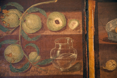 Italy, Naples Museum, Herculaneum, House of Stags (or Deer) (IV, 21), Still Life with Peaches Photographic Print by Samuel Magal