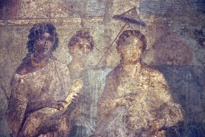 Italy, Naples, Naples Museum, from Pompeii, House of Meleager (VI 9, 2.13), Dido Abandoned Photograp...