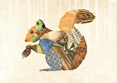 Woodland Creature: Squirrel Poster Plakater af  Satchel & Sage