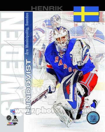New York Rangers Henrik Lundqvist- Sweden Portrait Plus Photo
