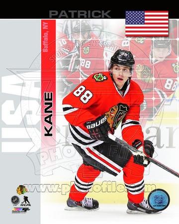Chicago Blackhawks Patrick Kane- USA Portrait Plus Photo