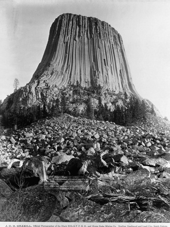 Devil's Tower, Wyoming Photographic Print by John C.H. Grabill