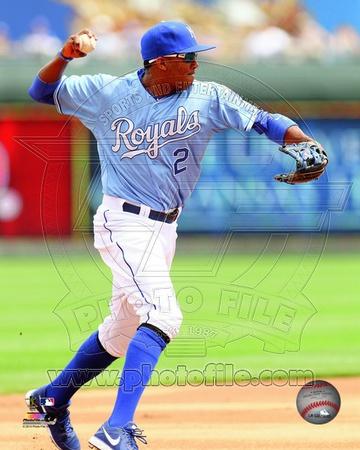 Kansas City Royals Alcides Escobar 2013 Action Photo