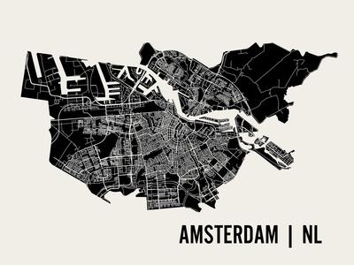 Amsterdam Print by  Mr City Printing