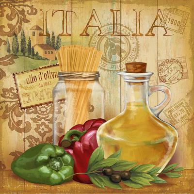 Italian Kitchen II Poster by Conrad Knutsen