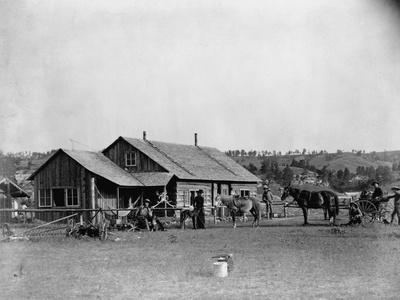 Western Ranch House Photographic Print by John C.H. Grabill