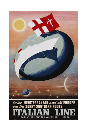 Italian Line Poster Giclee Print by Alda Sassi