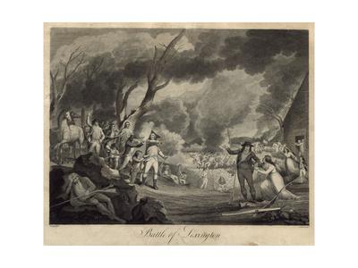 Battle of Lexington Giclee Print by Elkanah Tisdale