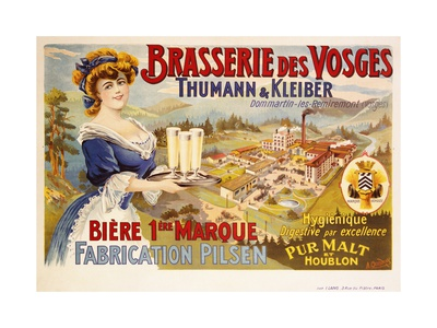 Brasserie Des Vosges Poster Giclee Print by A. Quendray