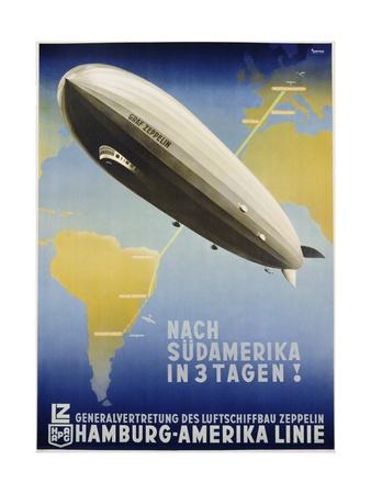 Nach Sudamerika in 3 Tagen! Poster Giclee Print by Ottomar Anton