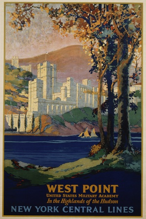 West Point - New York Central Lines Travel Poster Giclee Print by Frank Hazell