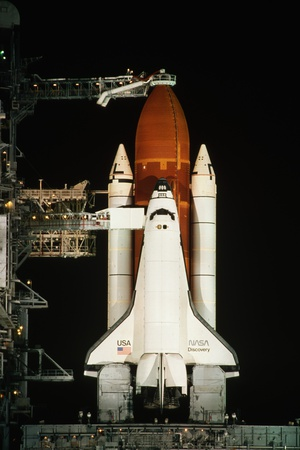Space Shuttle Discovery on the Launch Pad Photographic Print by Roger Ressmeyer
