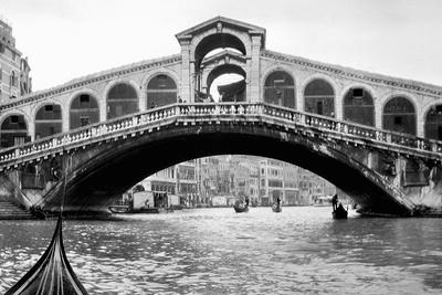 Gondola View of the Rialto Bridge in Venice, Italy, Ca. 1912 Photographic Print