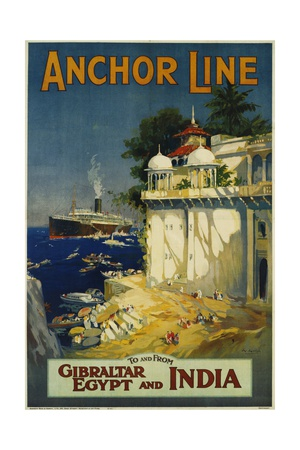 Anchor Line Travel Poster Giclée-Druck von W. Welsh