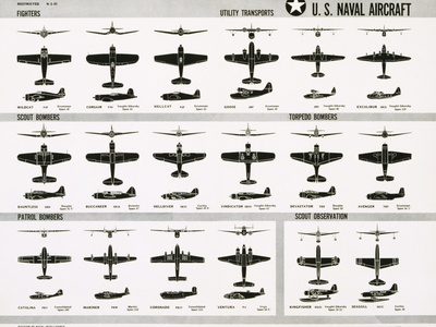 Poster of U.S. Naval Combat and Transport Aircraft Photographic Print