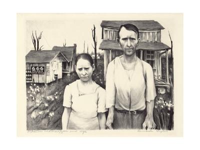 Arkansas Sharecropper and Wife Giclee Print by Bernarda Bryson Shahn