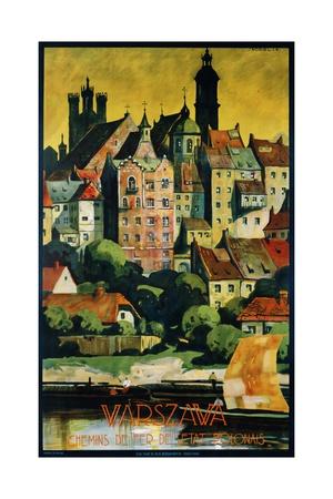 Warszava Poster Giclee Print by Stefan Norblin