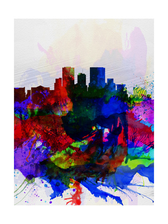 El Paseo Watercolor Skyline Posters by  NaxArt