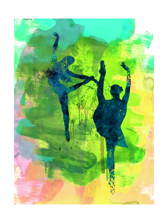 Ballet Watercolor 1 Prints by Irina March