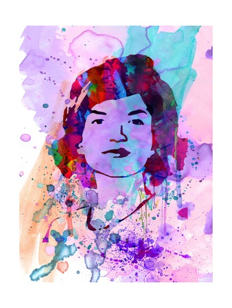 Jackie Kennedy Watercolor Posters by Anna Malkin