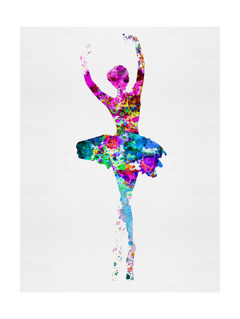 Ballerina Watercolor 1 Print by Irina March