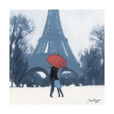 Snow Time For A Kiss Giclée-tryk af Jon Barker