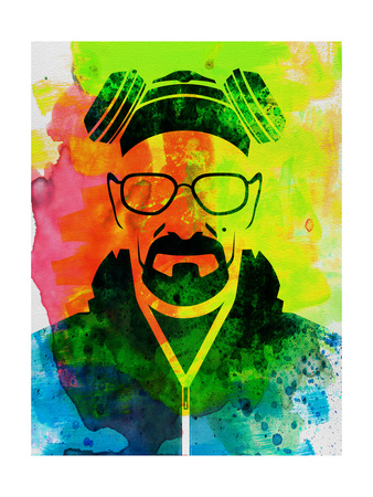Walter White Watercolor 1 Posters by Anna Malkin