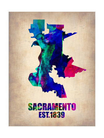 Abstract Sacramento, California city map artwork