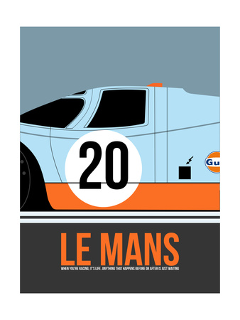 Le Mans Poster 2 Print by Anna Malkin
