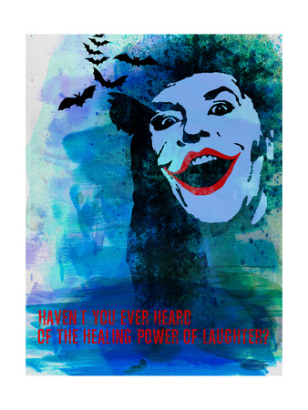 Laughter Watercolor Poster by Anna Malkin