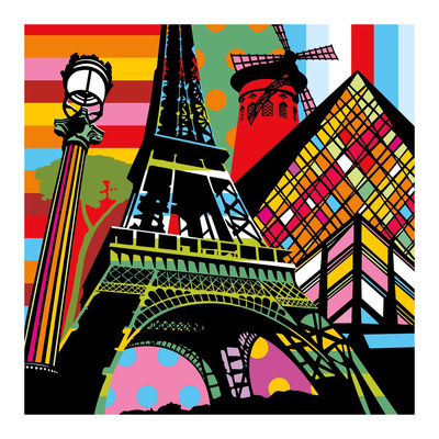 Paris Pop Print by  Lobo