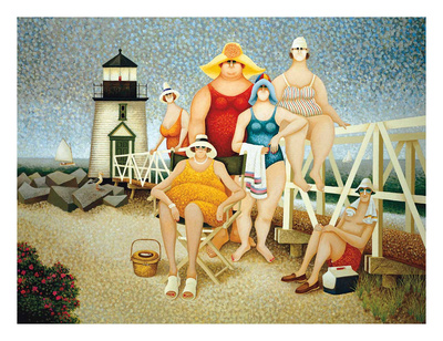 Beach Vacation Posters by Lowell Herrero