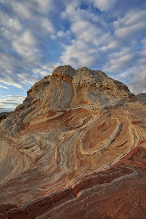 Sandstone Hill with Swirly Layers Photographic Print by James Hager