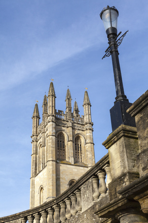The Great Tower of Magdalen College with Typical Archaic Lampost in Foreground Photographic Print by Charlie Harding