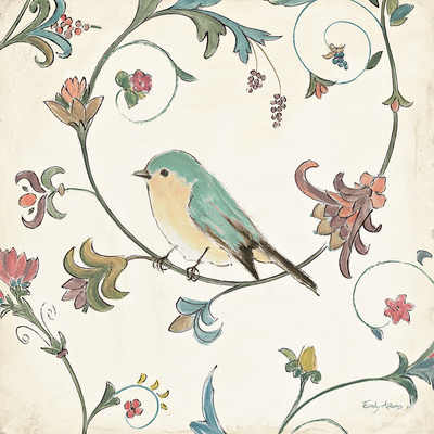 Birds Gem II Art by Emily Adams