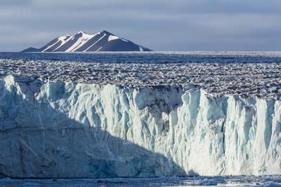 Tidewater Glacier, Hornsund, Spitsbergen, Svalbard Archipelago, Norway, Scandinavia, Europe Photographic Print by Michael Nolan