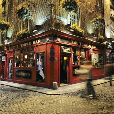 The Temple Bar Pub at Night, Temple Bar, Dublin, County Dublin, Republic of Ireland, Europe Photographic Print by Stuart Black